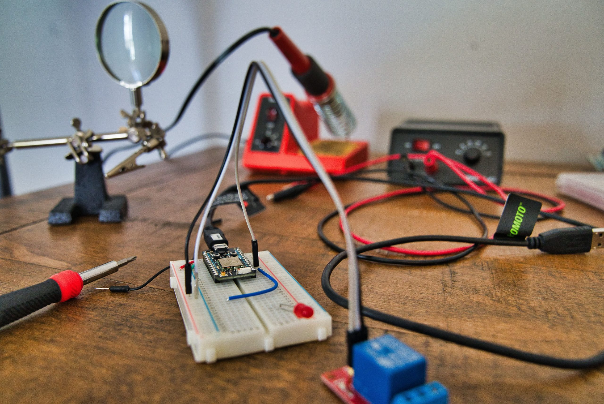 soldering iron and circuit